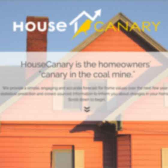 Interactive website design for Canary