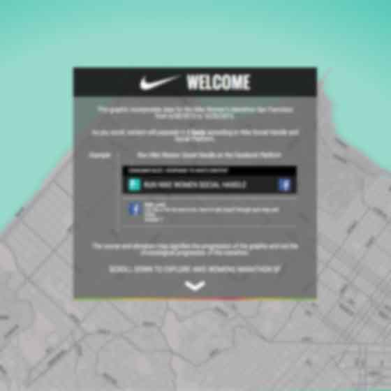 Interactive website design for Nike